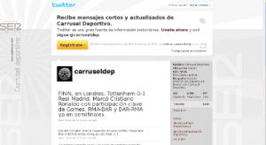 Pantallazo Twitter Carrusel Deportivo