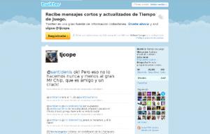 Twitter Tiempo de Juego