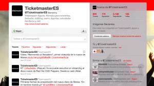 Perfil Twitter Ticketmaster España