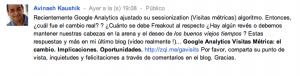 Traducción post Avinash extension Chrome Translate