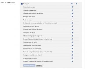 Configuracion cuenta Facebook