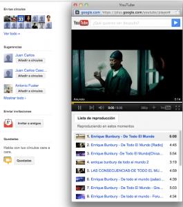 Google Plus integración con Youtube