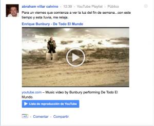 Google Plus integra Youtube