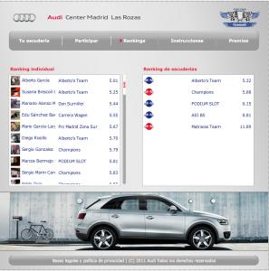 App Copa Audi Facebook