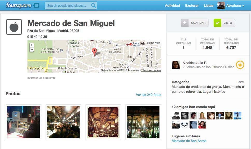 Foursquare Mercado de San Miguel