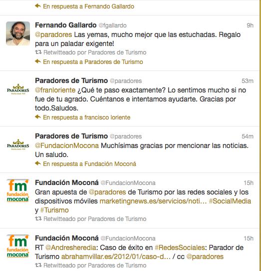 Captura Twitter Paradores