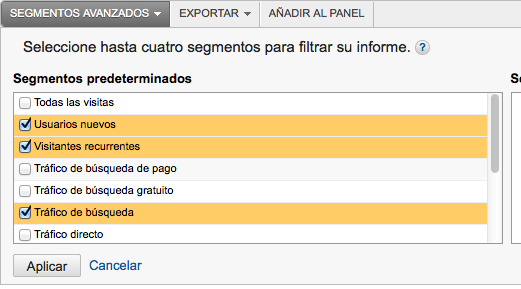 Segmentar Interaccion Google Analytics