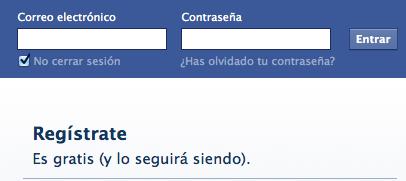 Facebook es gratis