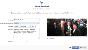 Crear un hito en facebook fan pages