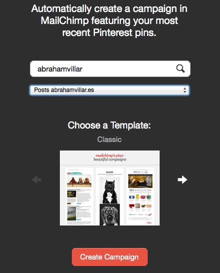Pinterest y Mailchimp