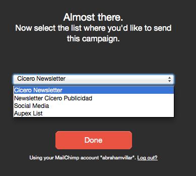 Campañas en Mailchimp