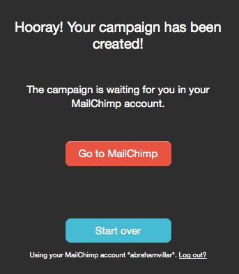 Mailchimp y Pinterest