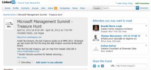 Evento en Linkedin
