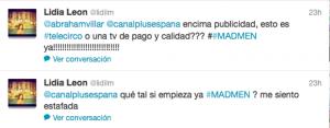 Mad Men criticas Twitter