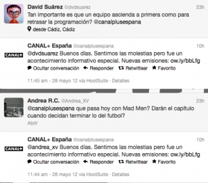 Canal Plus Twitter quejas
