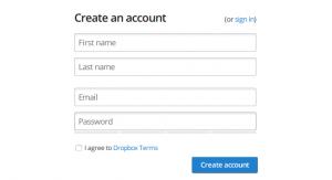 Dropbox form