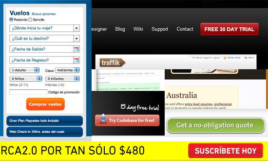 webs con demasiadas opciones