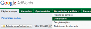 Segumiento de conversiones Adwords