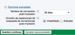 Seguimiento conversiones Adwords