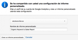 Informes personalizados analytics