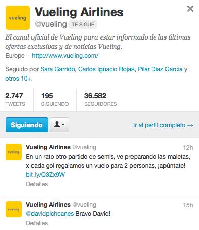 Vueling Twitter