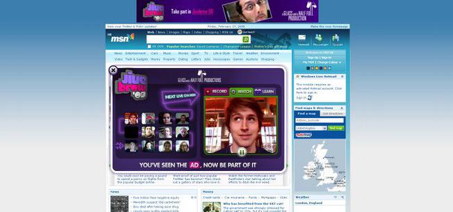 MSN Take Over Publicidad Central