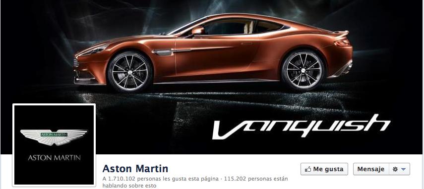 Aston Martin Facebook