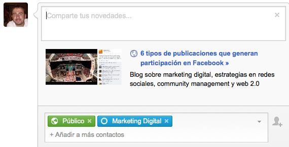 Google Plus Círculos