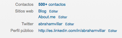 Linkedin enlaces web