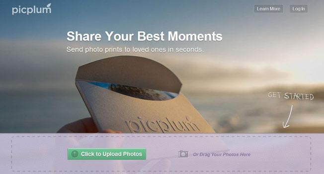 Picplum landing page