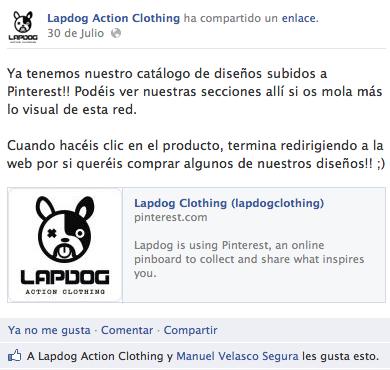 Lapdog actualizacion Facebook