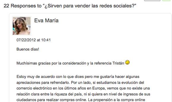 Comentarios blog Tristan elosegui
