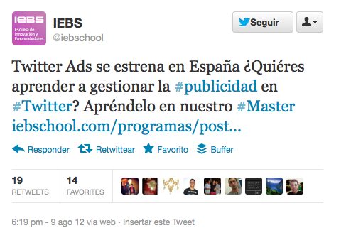 Tweet de iebschool
