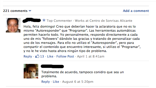 Comentarios blogs