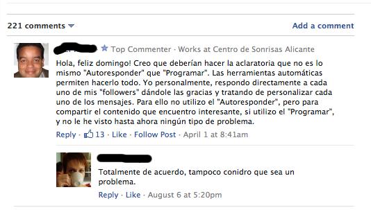 Comentarios blogs
