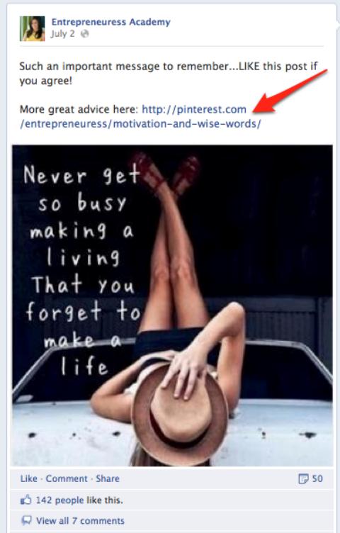 Board example Facebook