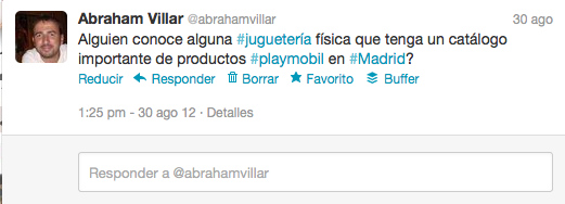 Playmobil Twitter Caso