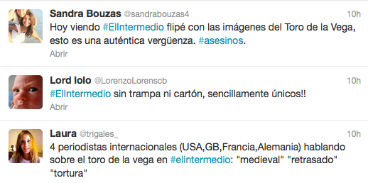 El Intermedio hashtag
