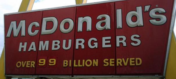 Mc Donalds customers served
