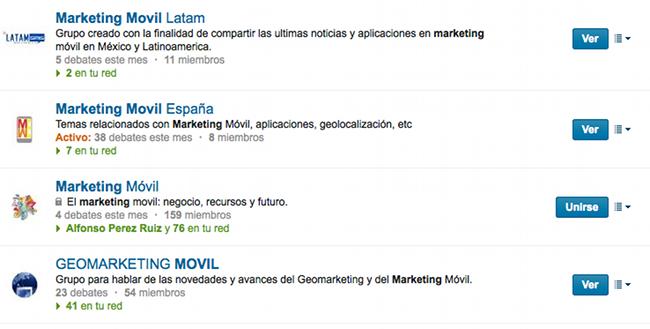 Grupos en Linkedin