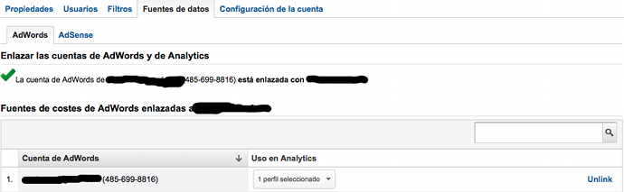 Analytics Enlazar Adwords
