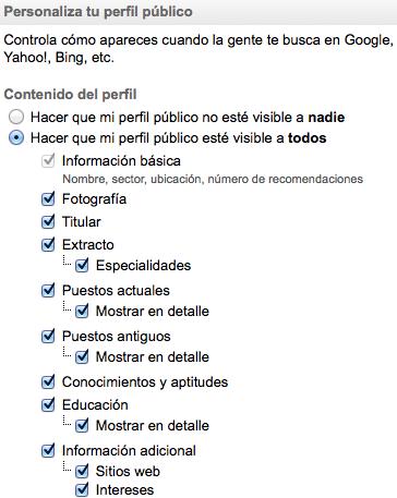 Perfil Visible Linkedin