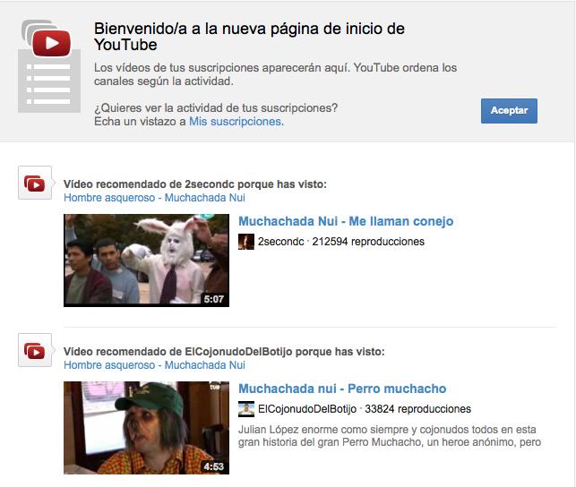 Youtube Nuevo Diseño