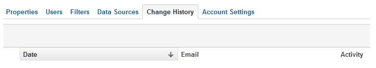 Historial de cambios Analytics