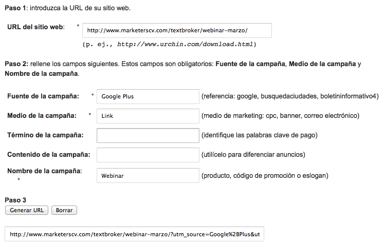 Google Plus URL Builder