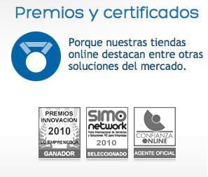 Premios y certificados tiendas xopie