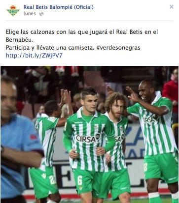 Campaña Facebook Real Betis