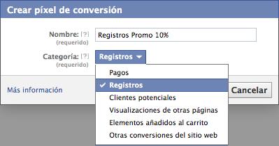Seguimiento de conversiones Facebook