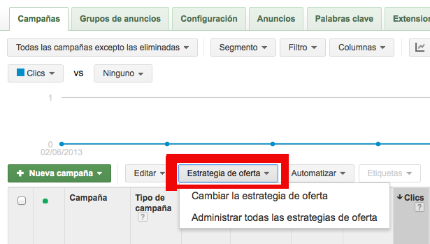 Ofertas Flexibles Adwords