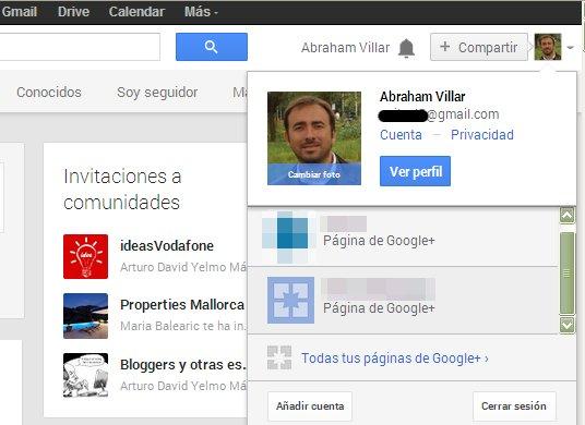 Eliminar Pagina Google Plus